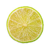 Cut lime on a white background Royalty Free Stock Images