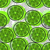 Cut limes seamless pattern royalty free stock image