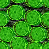 Cut limes seamless pattern Stock Image