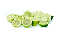 Cut limes Stock Images