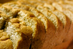 Cut Loaf of Bread. Close up of Slices of bread royalty free stock photography