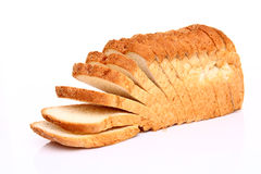 The cut loaf of bread