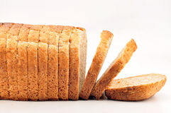 The cut loaf of bread Stock Photography