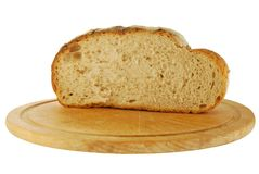 Cut loaf of bread Royalty Free Stock Image