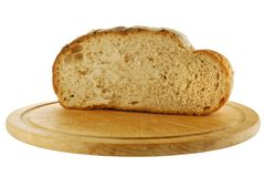 Cut loaf of bread Stock Photo
