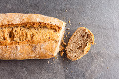 Cut loaf of bread Stock Photos
