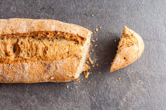 Cut loaf of bread Royalty Free Stock Photo