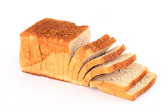 Cut loaf of bread Royalty Free Stock Images