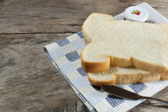 The cut loaf of bread Stock Image