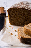 Cut loaf of rye bread Royalty Free Stock Photo