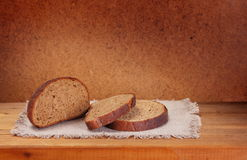 Cut loaf of rye bread Royalty Free Stock Photos