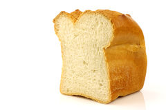 Cut loaf of white bread Stock Photos