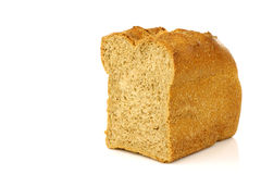 Cut loaf of wholemeal bread Stock Image