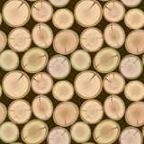 Cut log butt seamless Stock Photos