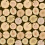Cut log butt seamless. Background Stock Photos