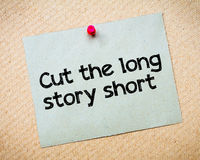 Cut the long story short Royalty Free Stock Photography