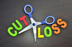 Cut Loss concept Royalty Free Stock Photo