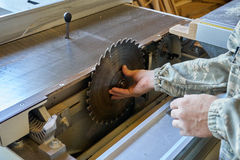 Cut machine with circular saw Stock Image