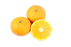 Cut Mandarin Orange. Stock Photo