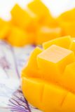 Cut mango closeup Royalty Free Stock Images