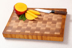 Cut mango Royalty Free Stock Image