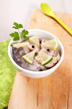 Cut and marinated fish fillets Royalty Free Stock Photography