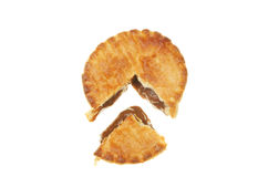 Cut meat pie Stock Image