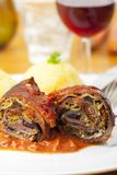 Roulade. Cut meat roulade on a plate Stock Photo