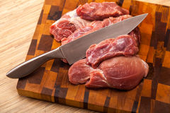 The cut meat Royalty Free Stock Photography