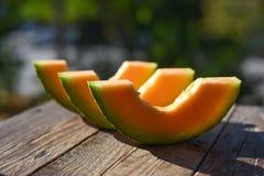 Cut melon segments Stock Photography