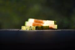 Cut melon segments Stock Images
