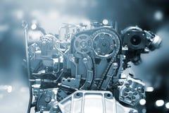 Cut metal car engine part Stock Photo