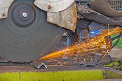 Cut Metal Disk Stock Photo