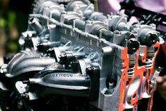 Cut metal engine. Stock Image