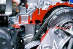Cut metal engine Stock Image
