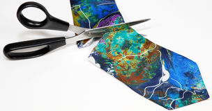 Cut the necktie Royalty Free Stock Images