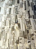 Cut newspaper pattern Royalty Free Stock Image