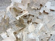 Cut newspaper texture abstract Royalty Free Stock Image