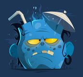 Cut off angry zombie head Royalty Free Stock Photos