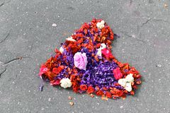 Heart made of cut flowers Royalty Free Stock Image