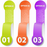 Cut-off paper options Royalty Free Stock Photo