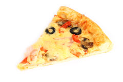 Cut off slice pizza Stock Image