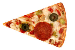 Cut off slice pizza isolated royalty free stock photo