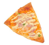 Cut off slice pizza Royalty Free Stock Images