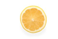 The cut off yellow lemon Royalty Free Stock Photo