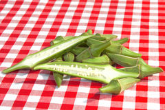 Cut okra Stock Photos