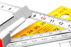 Cut Once, Measure Twice. Stock Photos
