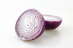 Cut the onion. Meat with onion bulb hypertrophy of organs for food, nutrition rich Stock Image