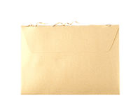 Cut open paper envelope isolated Stock Photo