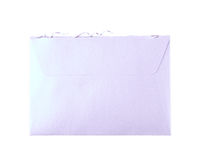 Cut open paper envelope isolated Royalty Free Stock Images